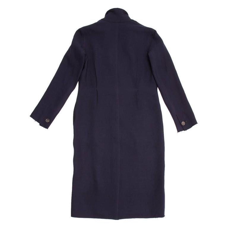 Lanvin Navy Wool Long Coat 4