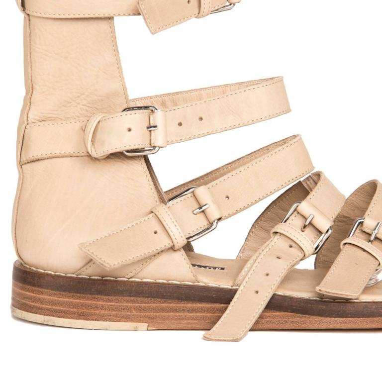 Ann Demeulemeester Tan Gladiator Sandals For Sale 1