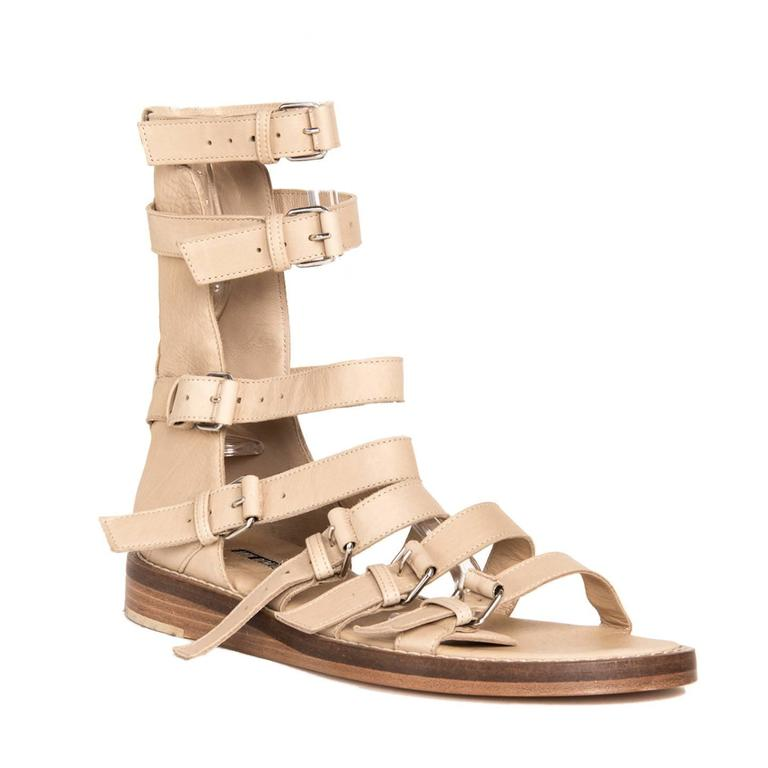 Beige Ann Demeulemeester Tan Gladiator Sandals For Sale
