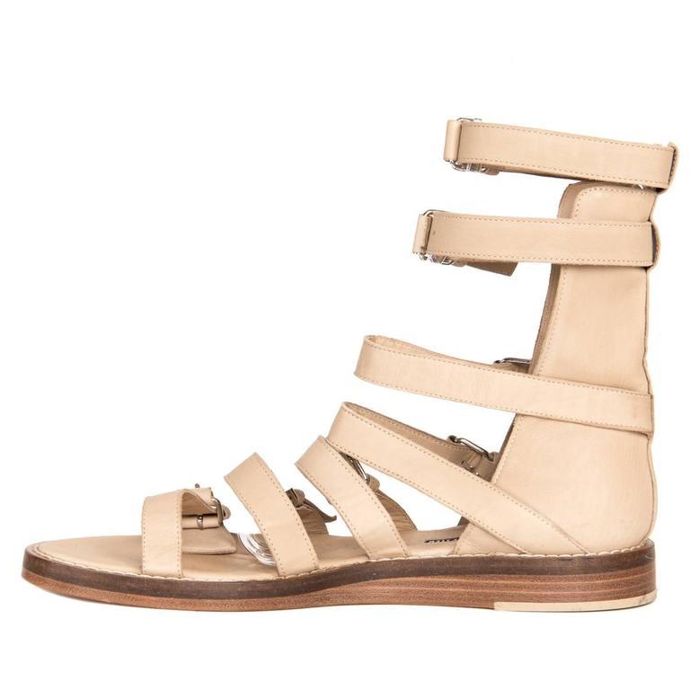 Women's Ann Demeulemeester Tan Gladiator Sandals For Sale