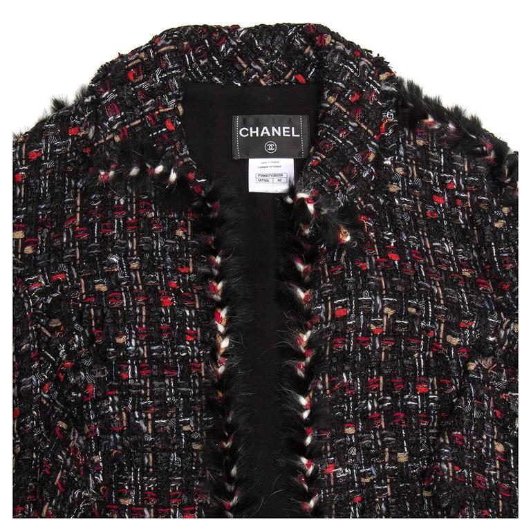 Chanel Multicolor Tie Front Tweed Jacket 5