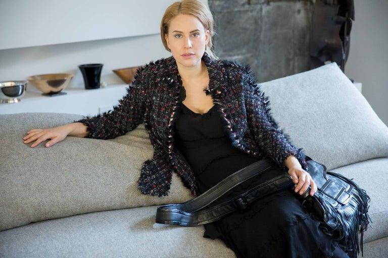Chanel Multicolor Tie Front Tweed Jacket 6