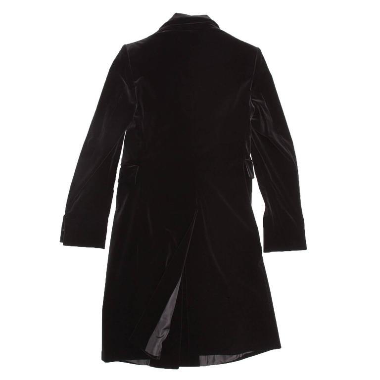 Women's Jil Sander Black Cotton Velvet Coat For Sale