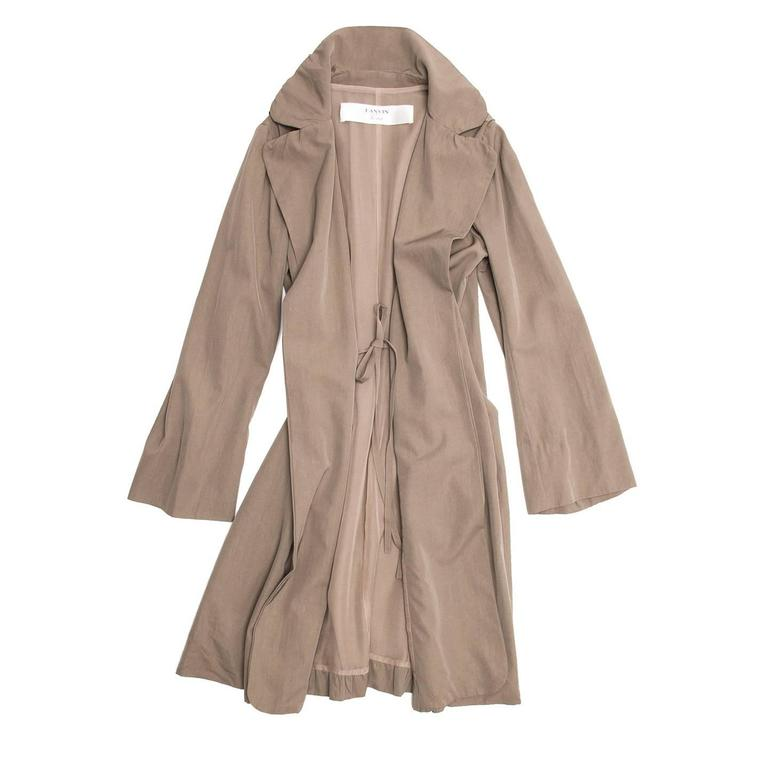 Brown Lanvin Taupe Classic Trench Coat For Sale