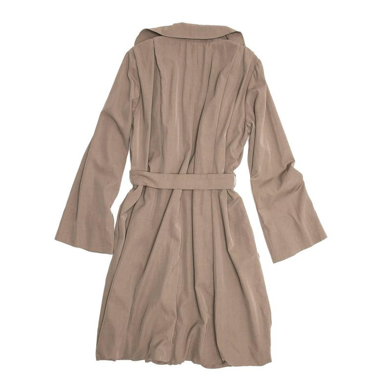 Lanvin Taupe Classic Trench Coat In New Condition For Sale In Brooklyn, NY