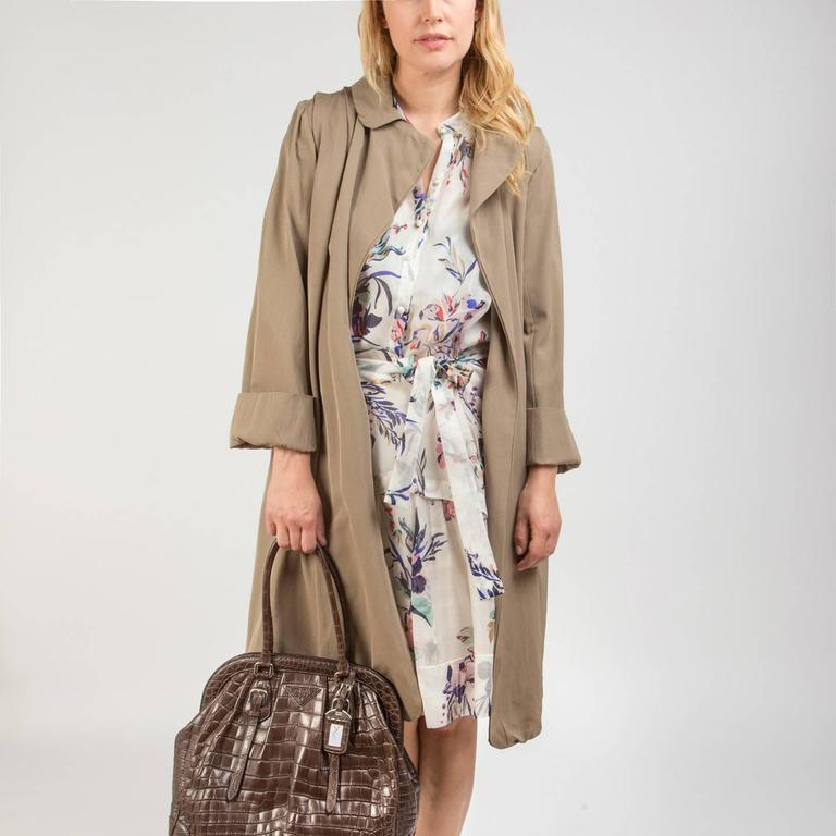 Women's Lanvin Taupe Classic Trench Coat For Sale