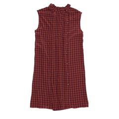 Prada Red Plaid Shift Dress