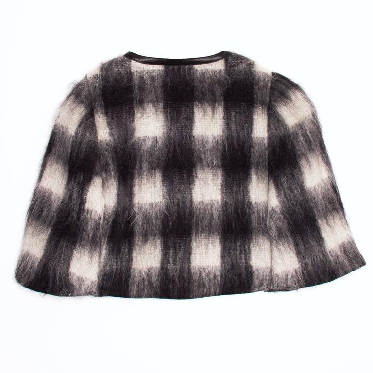 Prada Black & White Mohair Caplet 3
