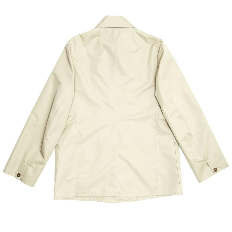 Beige Jil Sander Ecru Double Breasted Raincoat For Sale
