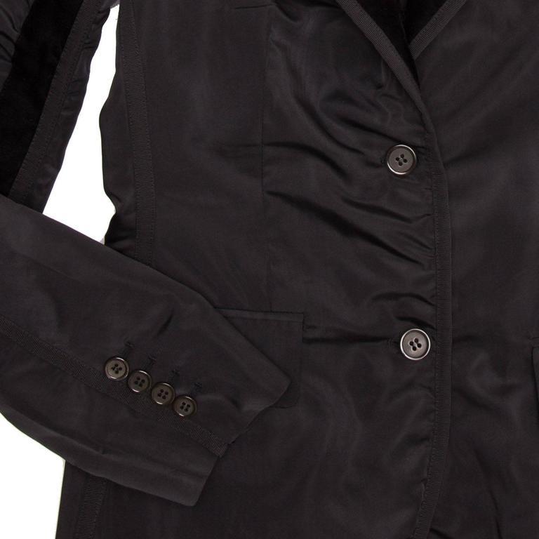 Yves Saint Laurent Black Silk Fitted Tuxedo Style Jacket For Sale 1