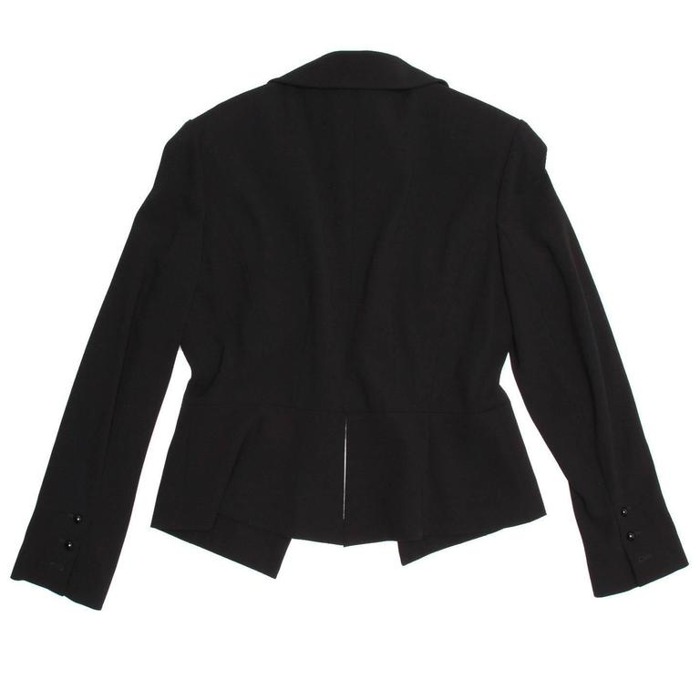 Chanel Black Wool Short Blazer with Peplum Detail 4