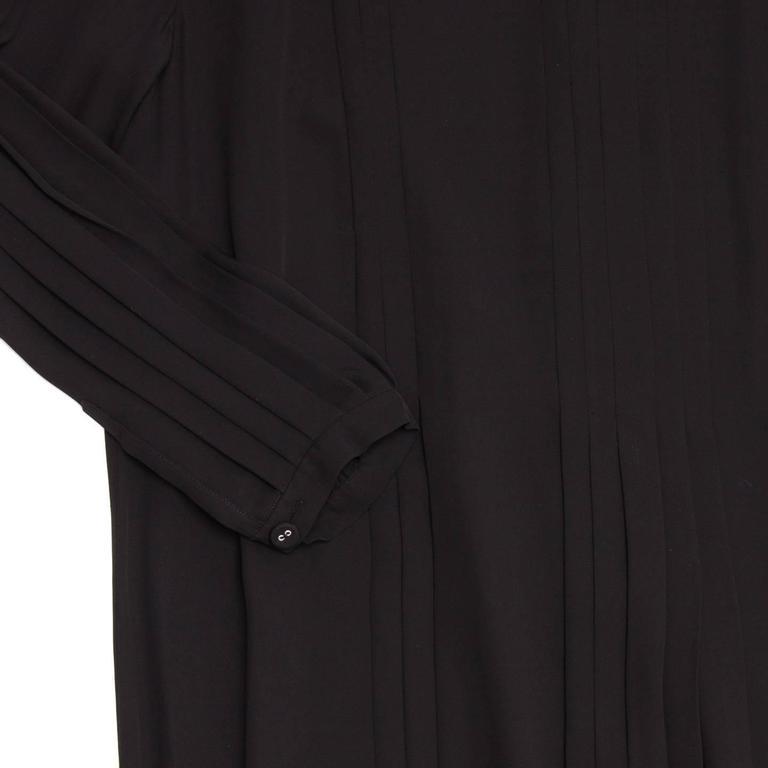 Women's Prada Black Silk Long Sleeve Dress For Sale