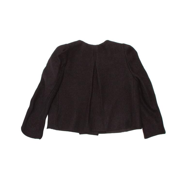 Chloe' Black Wool Cropped Blazer In New never worn Condition For Sale In Brooklyn, NY