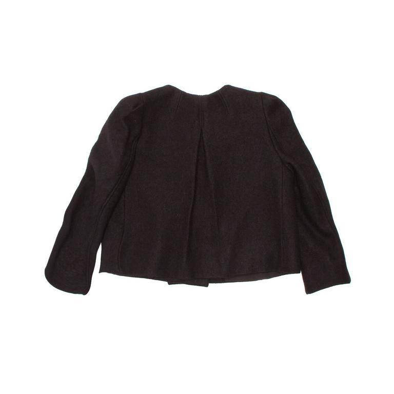 Chloe' Black Wool Cropped Blazer 3