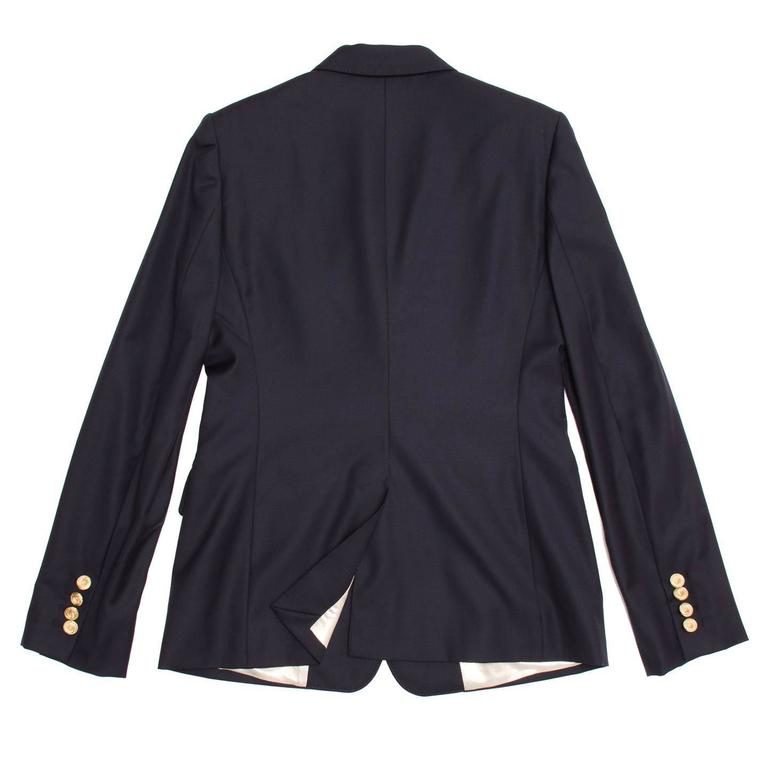 Stella McCartney Navy Wool Blazer In New Condition For Sale In Brooklyn, NY