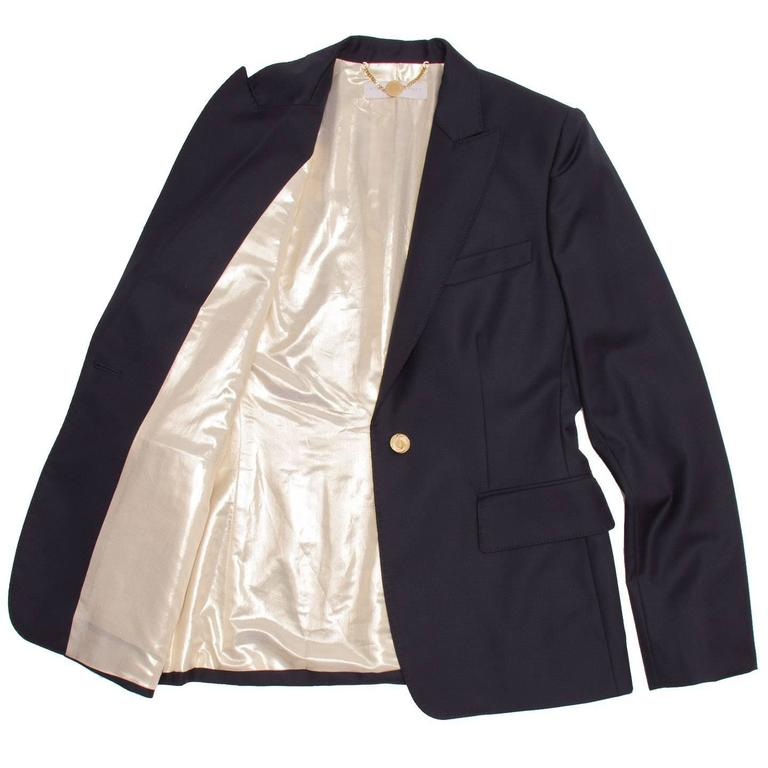 Black Stella McCartney Navy Wool Blazer For Sale