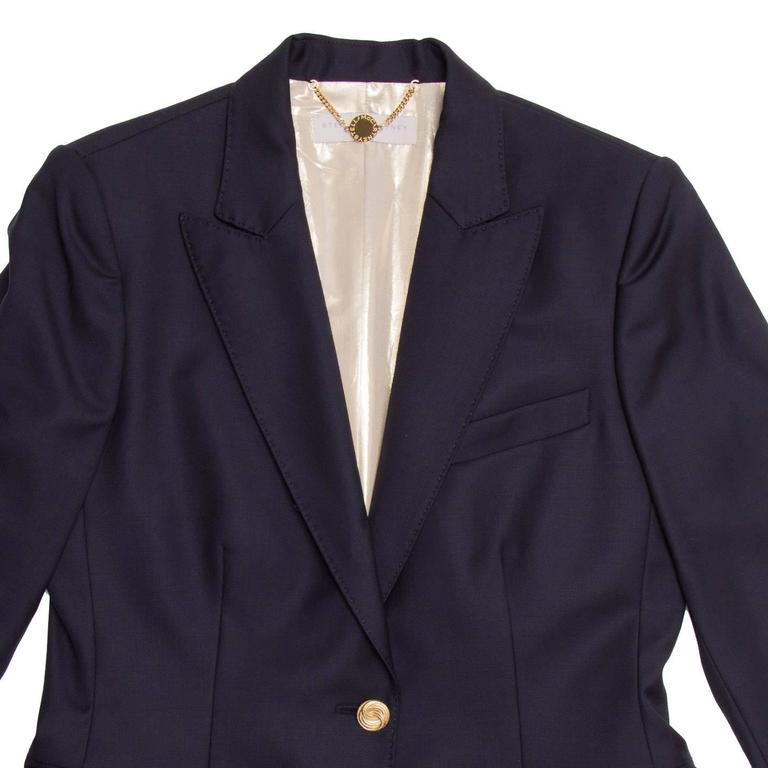 Women's Stella McCartney Navy Wool Blazer For Sale