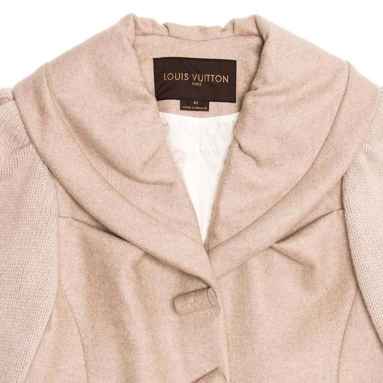 Women's Louis Vuitton Ecru Cashmere Cropped jacket For Sale