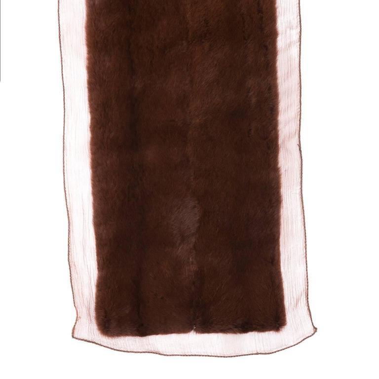 Brown Prada Maroon Mink Rabbit Scarf For Sale