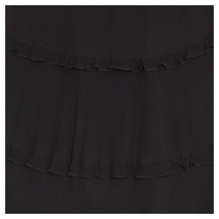 Cacharel Black Silk Long Dress 5