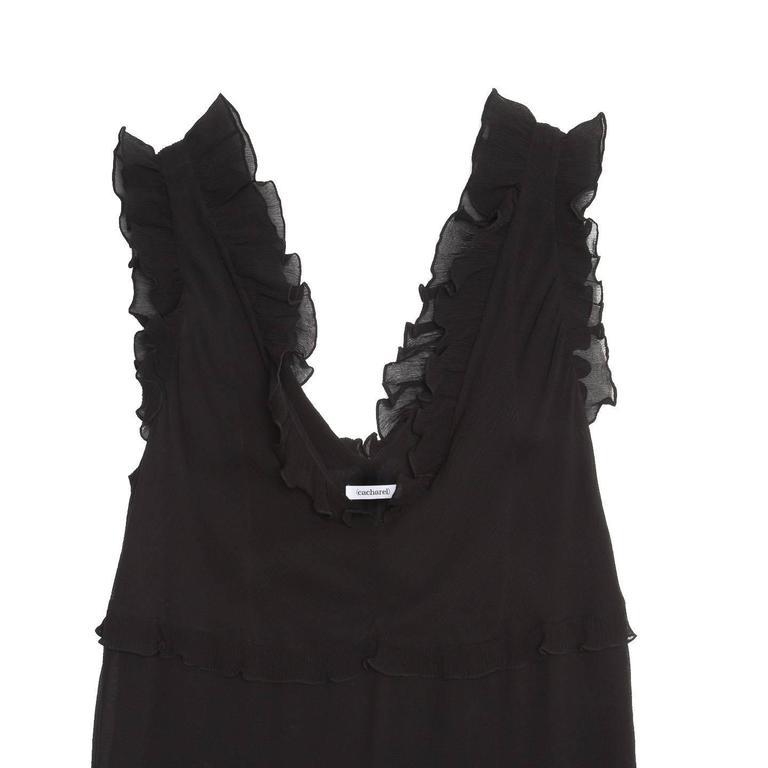 Cacharel Black Silk Long Dress 3