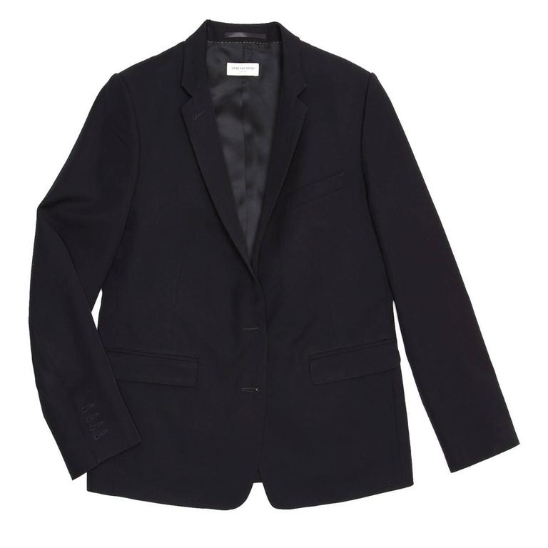 Dries Van Noten Dark Navy Snap Front Blazer 2