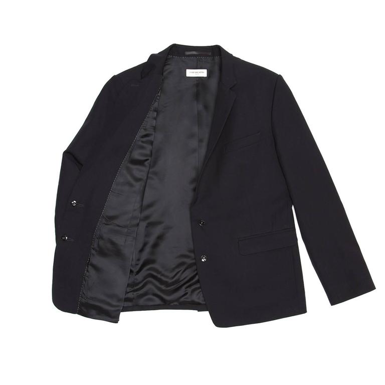 Dries Van Noten Dark Navy Snap Front Blazer 4