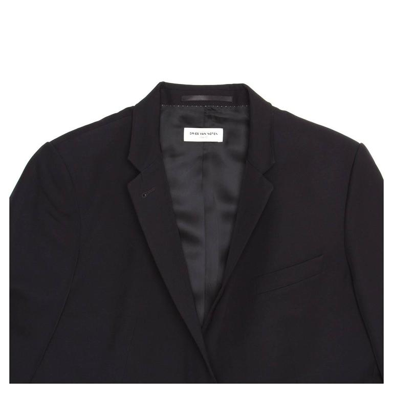 Dries Van Noten Dark Navy Snap Front Blazer 5