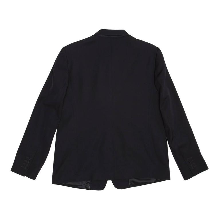 Dries Van Noten Dark Navy Snap Front Blazer 3