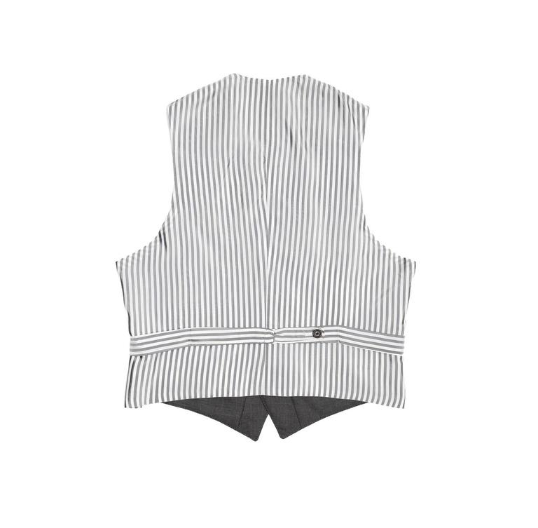 Black Thom Browne Heather Grey Wool Vest For Sale