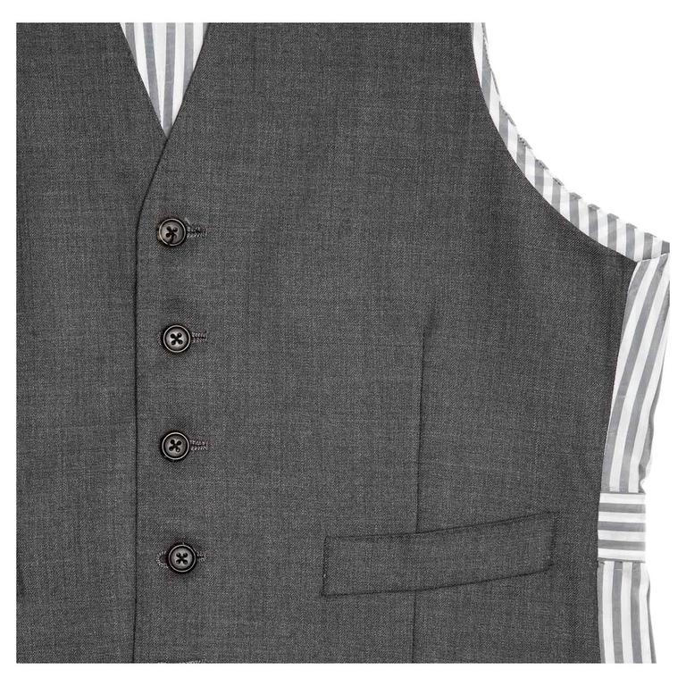 Women's or Men's Thom Browne Heather Grey Wool Vest For Sale