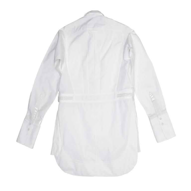 Balenciaga White Cotton & Leather Shirt 3