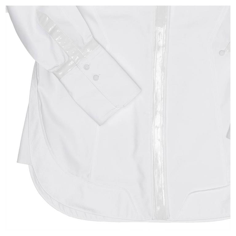 Balenciaga White Cotton & Leather Shirt 5