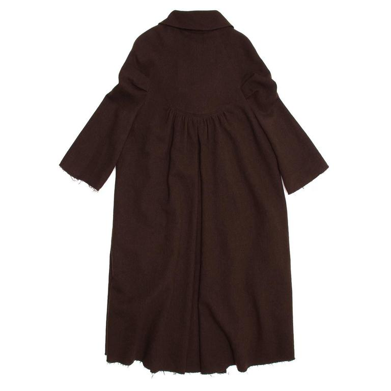 Black Marc Jacobs Brown Wool Tent Dress For Sale