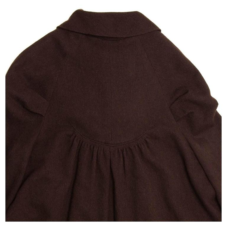 Women's Marc Jacobs Brown Wool Tent Dress For Sale