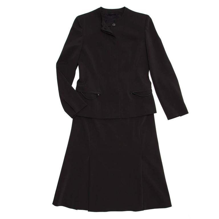 Prada Black Skirted Suit 2