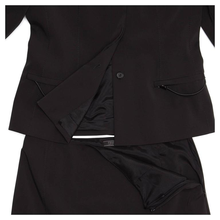 Prada Black Skirted Suit 6