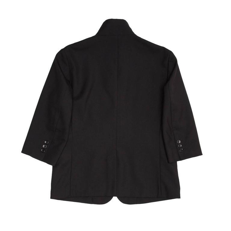 Women's Comme des Garçons Black Wool 3/4 Sleeve Blazer For Sale