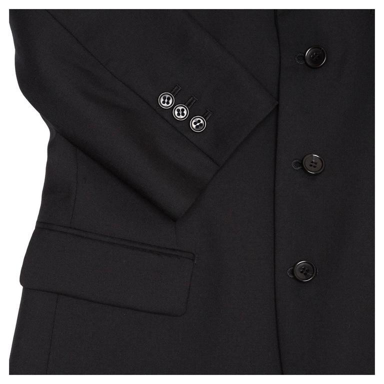 Comme des Garçons Black Wool 3/4 Sleeve Blazer For Sale 2