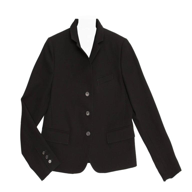 Gucci Black Wool Cropped Blazer