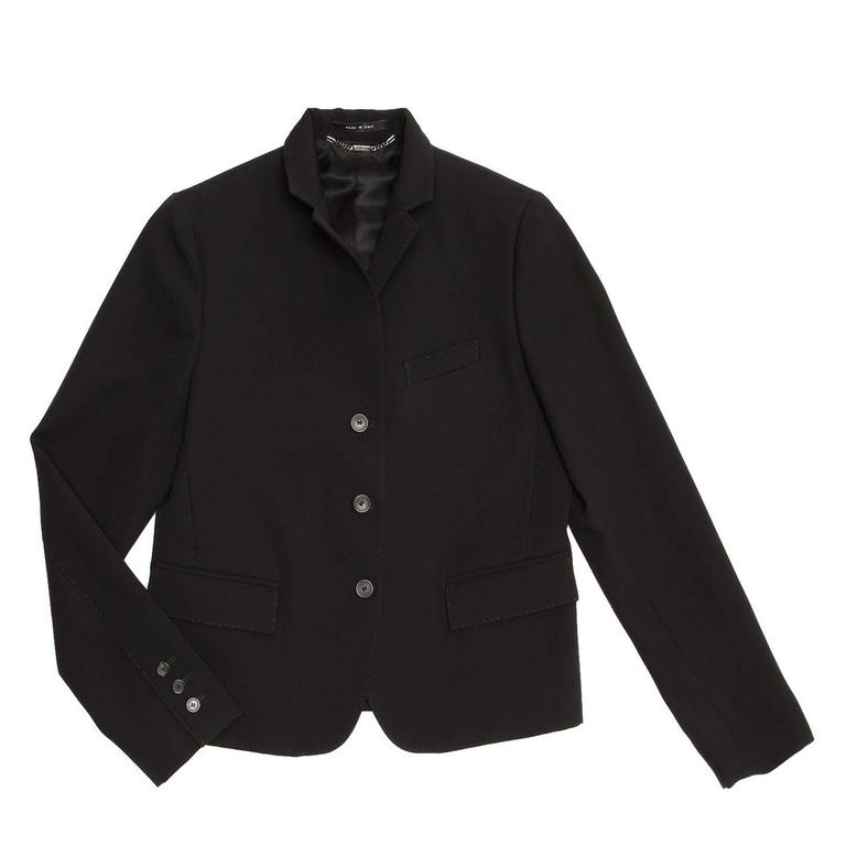 Gucci Black Wool Cropped Blazer 2