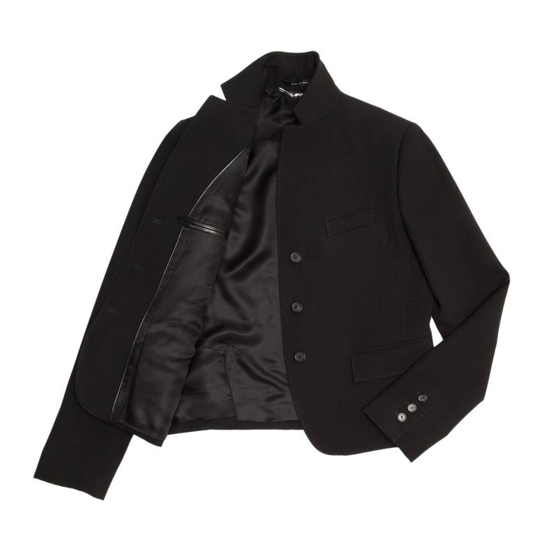 Gucci Black Wool Cropped Blazer 3