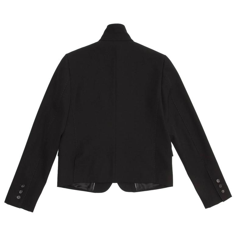 Gucci Black Wool Cropped Blazer 4