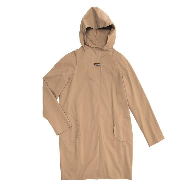 Jil Sander Khaki Hooded Tent Coat 2