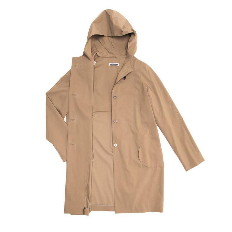 Jil Sander Khaki Hooded Tent Coat 3