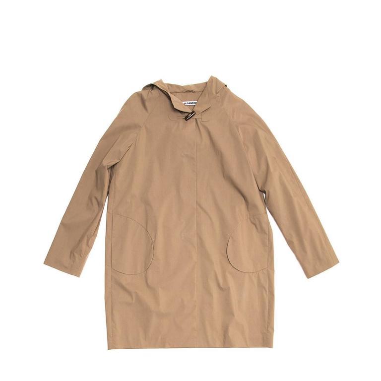 Jil Sander Khaki Hooded Tent Coat 4