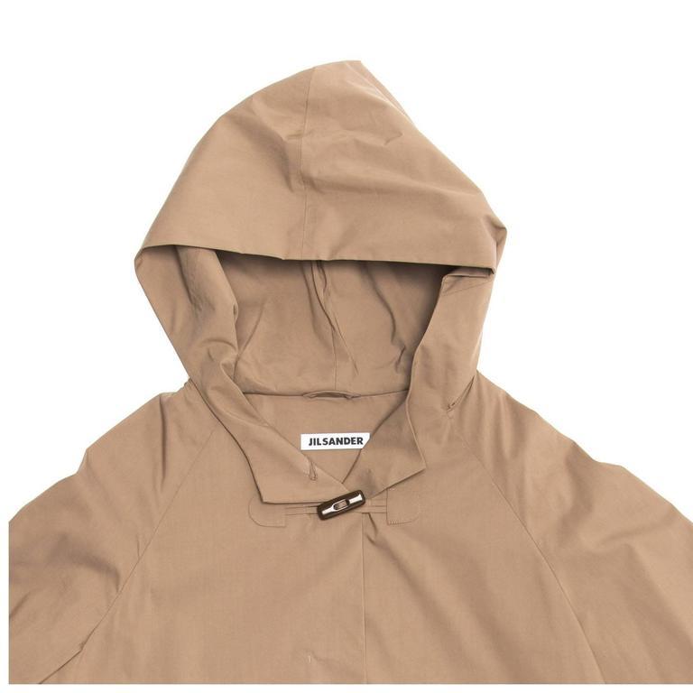 Jil Sander Khaki Hooded Tent Coat 5