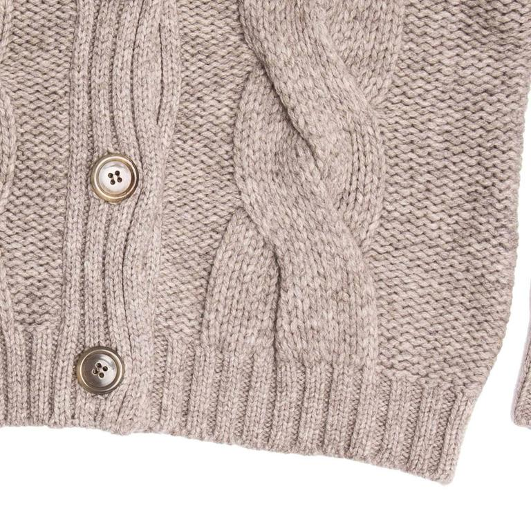 Women's Jil Sander Taupe Cropped Cardigan For Sale