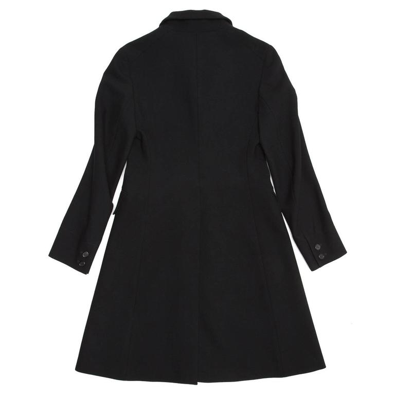 Women's Prada Black Wool Riding Style Coat For Sale