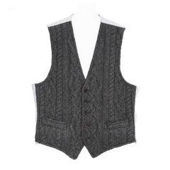 Thom Browne Dark Grey Knit Cashmere Vest